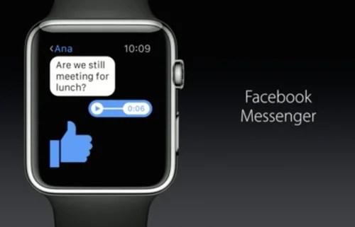 Facebook Messenger теперь доступен на Apple Watch
