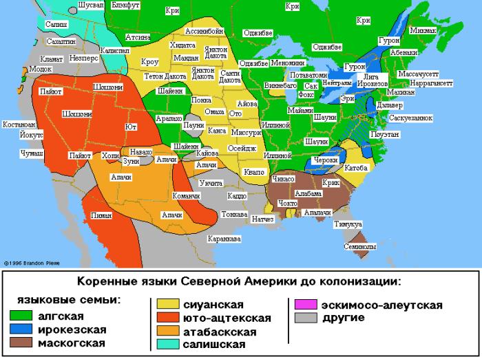 Анимированная карта колонизации Северной Америки, начиная с 18 века