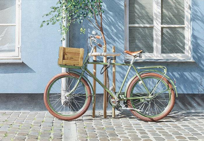 Велосипед в Копенгагене. Автор: Thierry Duval.