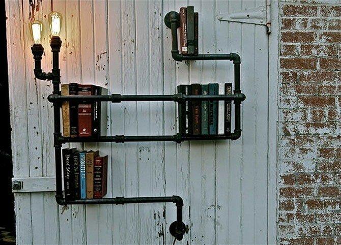 25 идей, как сделать красивую книжную полку