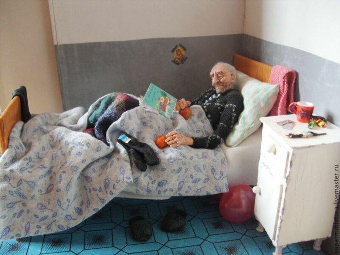 Ирина Верхградская. Удивительные кукольные миниатюры.