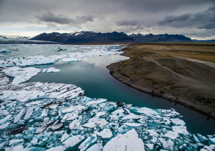 Живописная Исландия с высоты птичьего полёта