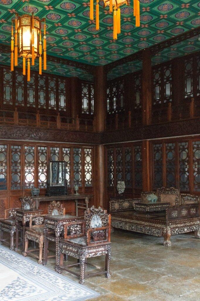Интерьер павильона Сицзиньчжай, Гунванфу, резиденция князя Гуна