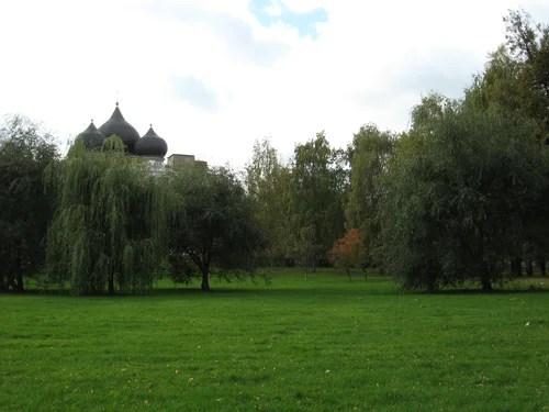 Серебряно-Виноградный пруд. Парк.