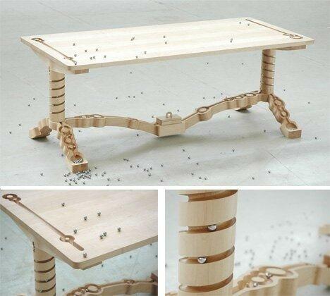 Эволюция мебели. Столы нас впечатляют всё больше и больше
