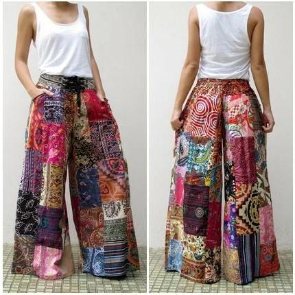 брюки в стиле пэчворк