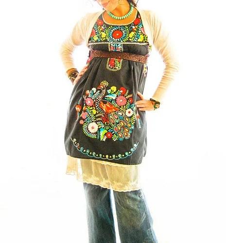 мексиканская этника одежда украшения из бисера