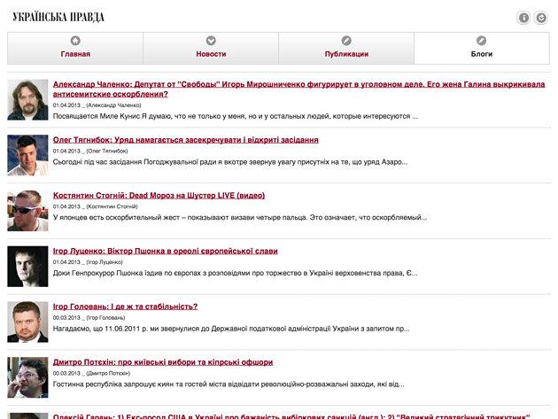 приложение Украинская правда для iPad