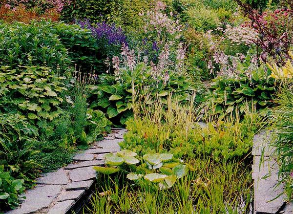 красивый сад цветочные клумбы фото