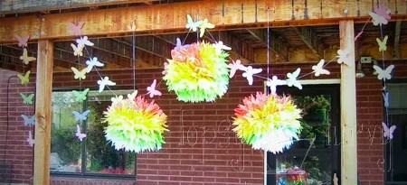 декор детского праздника на природе