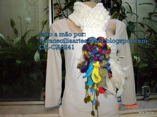шарф фриформ крючком шарфы украшения