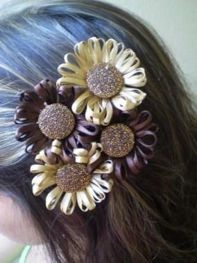 украшение для волос своими руками цветы