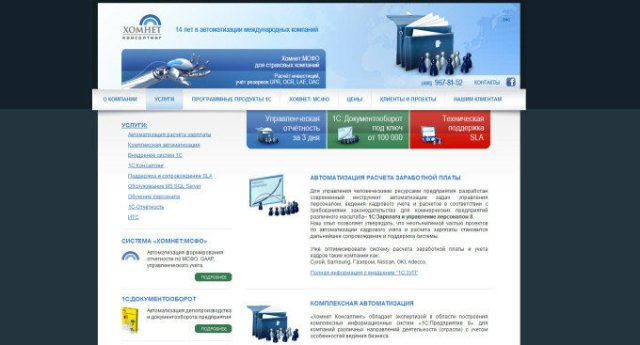 Поддержка и сопровождение SLA (отзыв о компании «Хомнет Консалтинг», homnet.ru)