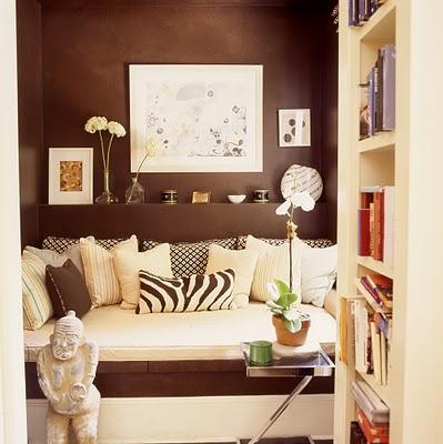 Красивый коричневый интерьер