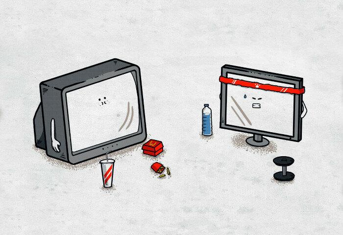 Невероятно остроумные (просто гениальные!) иллюстрации проекта Pampling