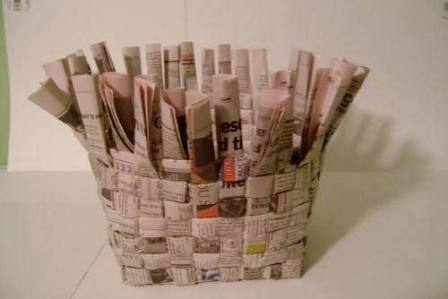 корзина из газет своими руками
