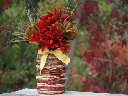 ваза для цветов из банки своими руками