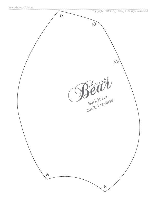 выкройка медведя