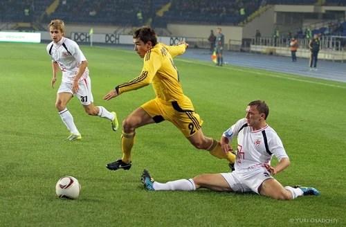 Metalist Kharkiv vs Volyn Lutsk football match