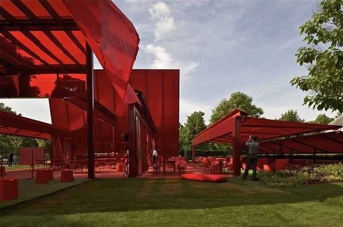Serpentine Gallery Pavilion 2010 by Jean Nouvel/Жан Нувель, летний павильон выставочной галереи Кенсингтонских садов в Лондоне