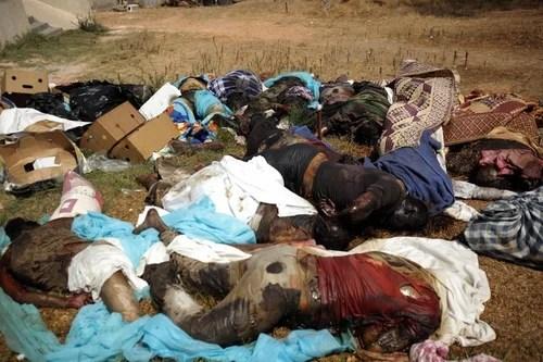 EDS NOTE GRAPHIC CONTENT-- Dead bodies a