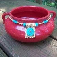 Керамика ручной работы украшенная бисером