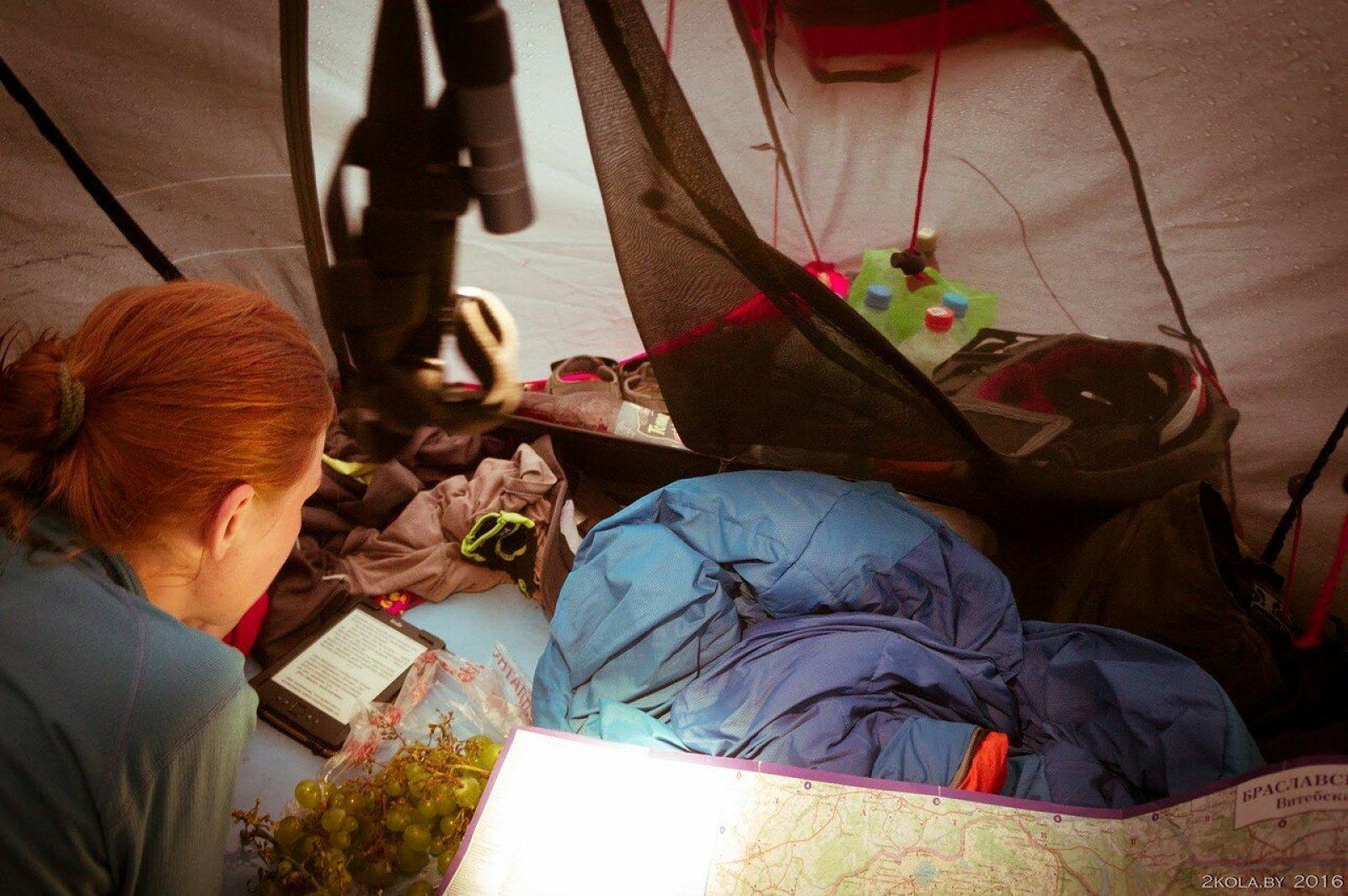 днёвка в палатке