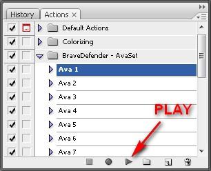 Набор для автоматической колоризации аватарок в Photoshop