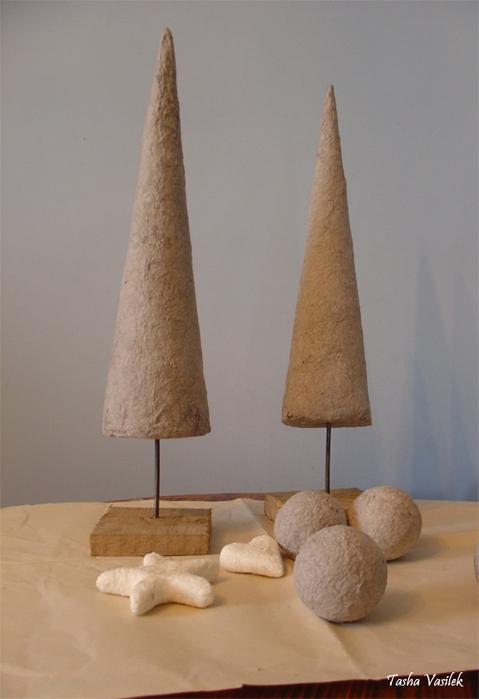 елка из папье-маше