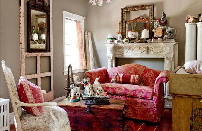 Как сделать загородный дом в винтажном стиле и красиво расставить раритетные предметы