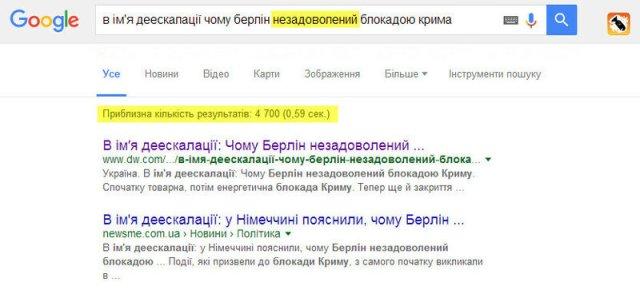 Пошук Google «незадоволений» помилками в словах