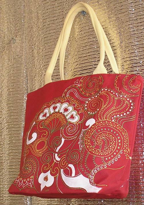 хендмейд сумка с росписью