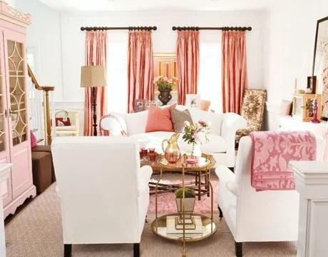 розовый в декоре интерьера