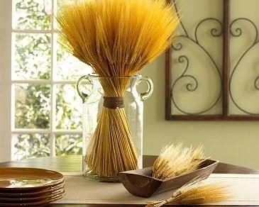 декорирование кухни колосьями злаков