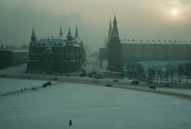 Museum and Kremlin in Snow