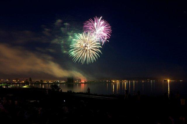Фейерверки на день независимости США в 2012 году