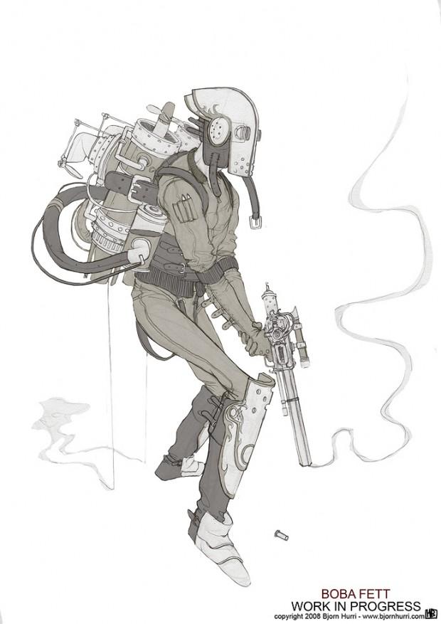 Star wars в steampunk-версии художника Bjorn Hurri