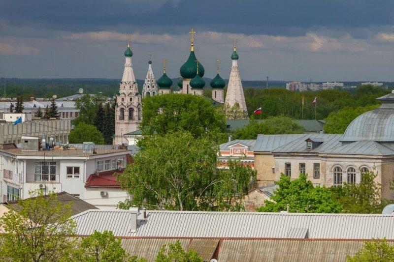 Панорама Ярославля - Церковь Ильи Пророка
