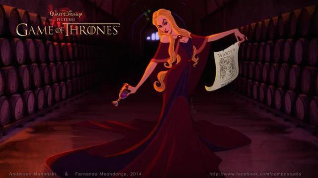Если бы «Игру престолов» нарисовали на Студии Диснея…