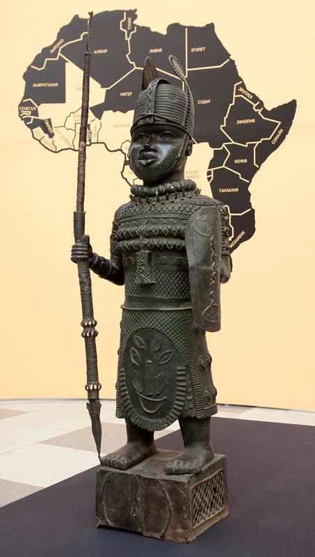 The ruler in military garb, Benin, Nigeria.