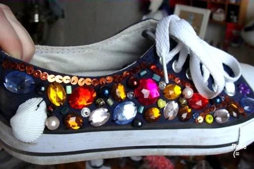 хендмейд обувь расшитые кеды своими руками