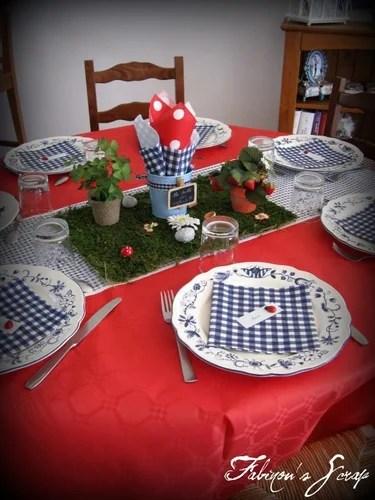 зеленый декорирование стола