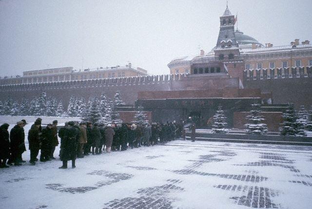 Visitors Queue to Enter the Lenin Mausoleum
