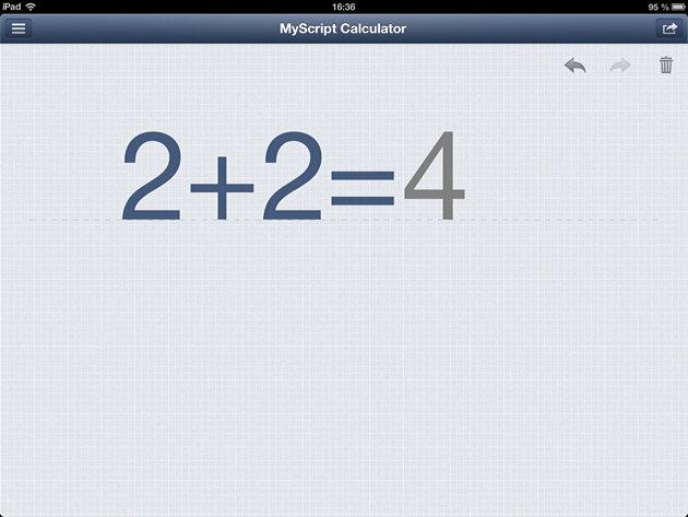 MyScript Calculator - бесплатный калькулятор с рукописным вводом для iPhone и iPad