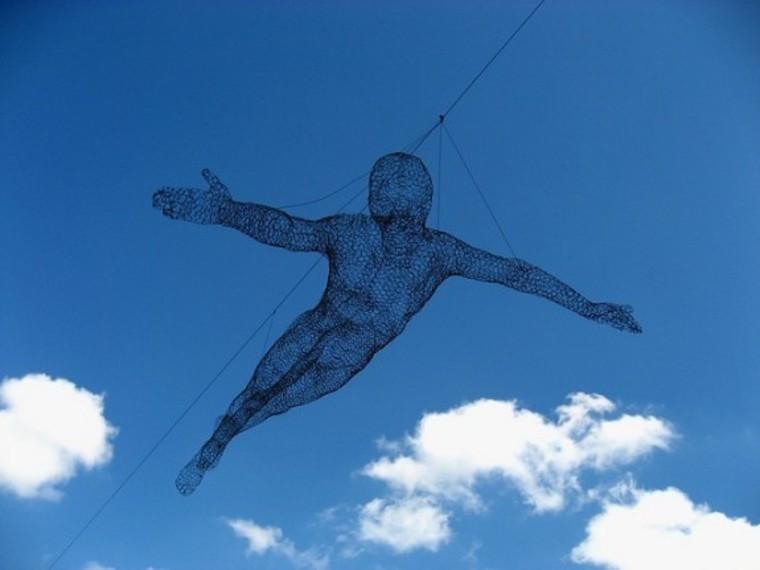 Парящие и светящиеся, скульптуры от Cedric Le Borgne