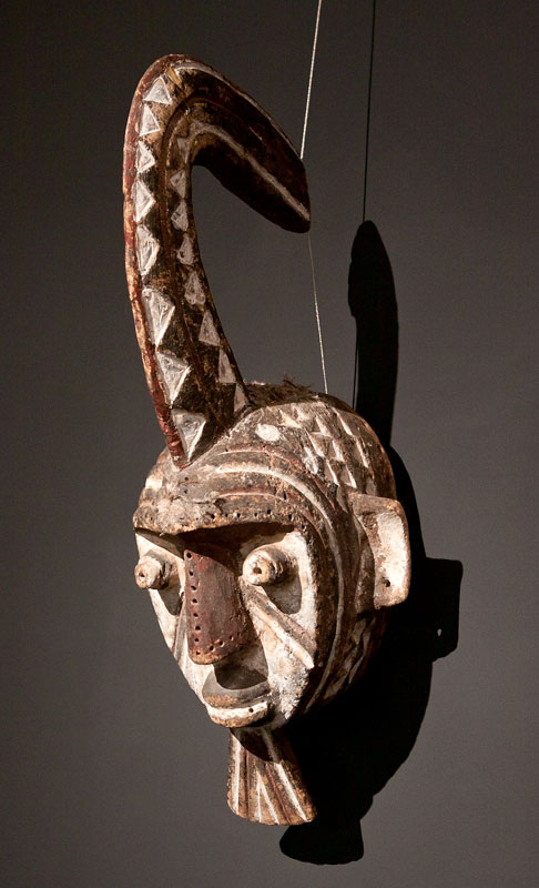 The mask of the secret society Sukomse depicting a woman Fulani people, Burkina Faso.