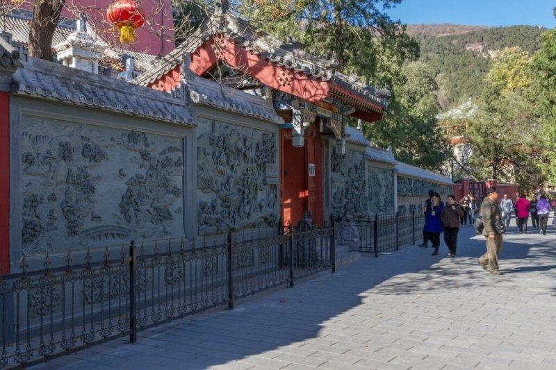 Стена с барельефами, монастырь Лингуан, Бадачу