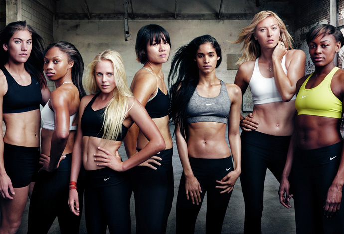 Рекламноя кампания Nike Women - Make Yourself/Сделай себя