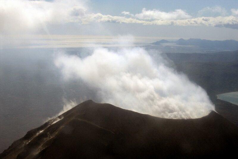 Камчатка. Извержение вулкана Карымский