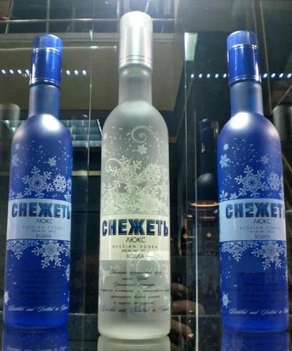 "фото бутылок водки ""Снежеть"""